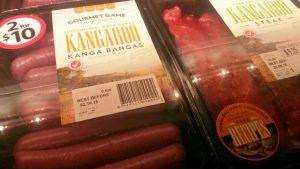 Känguru-Fleisch - nur fotografiert, nicht gegessen.