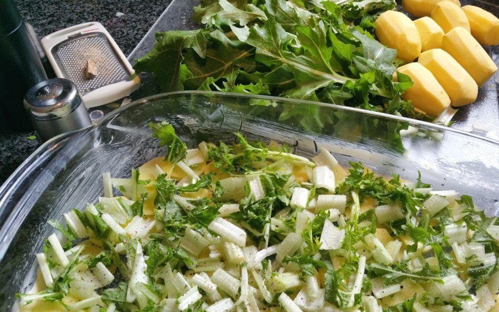Rübstiel-Kartoffel-Auflauf