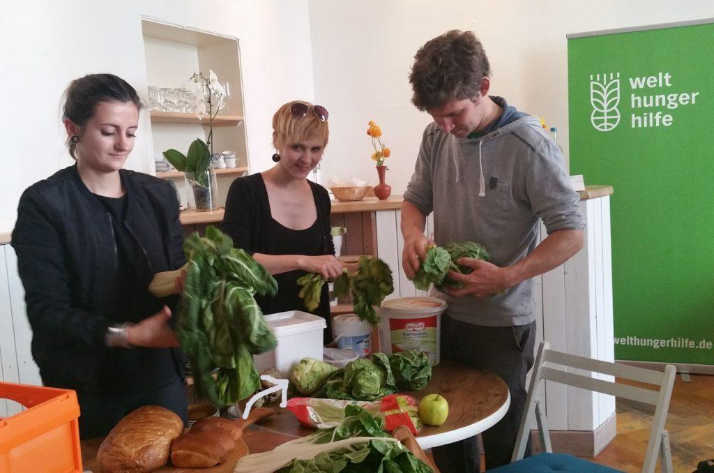 Am Vortag konnte sich jeder Rudiretter kostenlos Lebensmittelreste bei foodsharing abholen