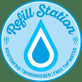 Aufkleber Refill-Station