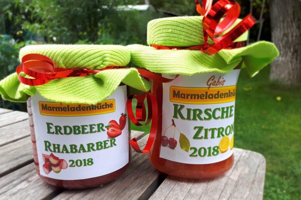 Erdbeer-Rhabarber, Kirsch-Zitronen-Marmelade