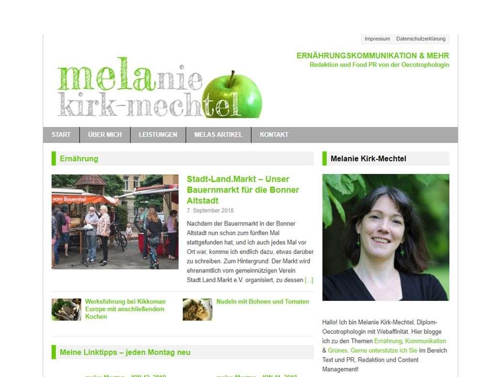 Startseite von Melanie Kirk-Mechtel