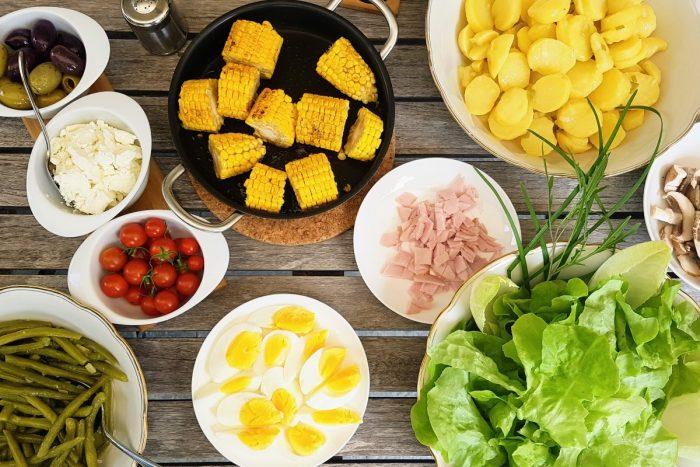 Salade Nicoise für Vegeterarier, Veganer und Fleischesser
