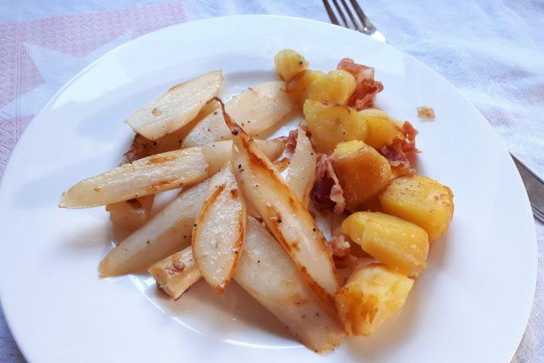 Schwarzwurzeln aus der Pfanne mit Kartoffeln